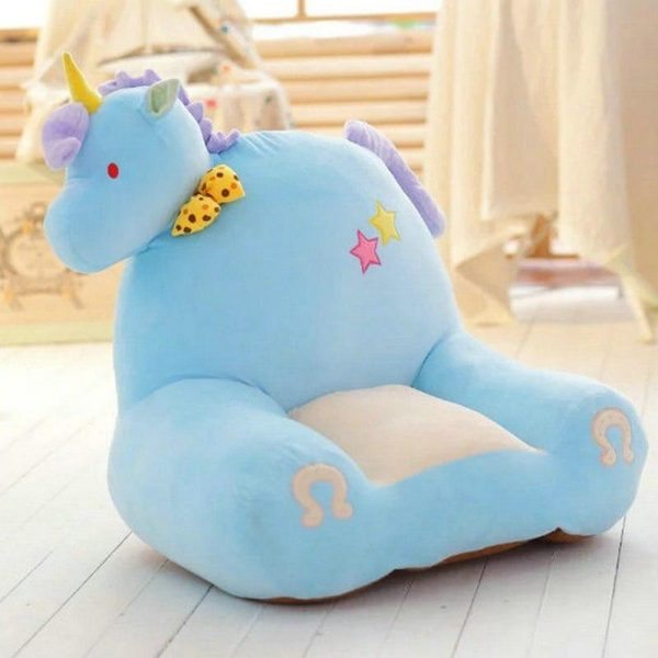 armchair unicorn blue 50 cm