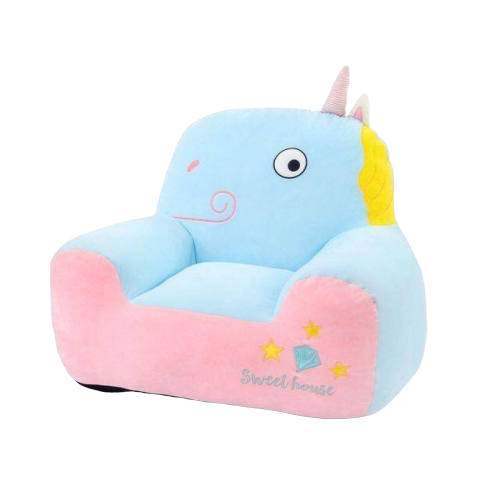 armchair unicorn blue and pink 80 cm pouf armchair unicorn