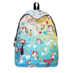 backpack unicorn blue
