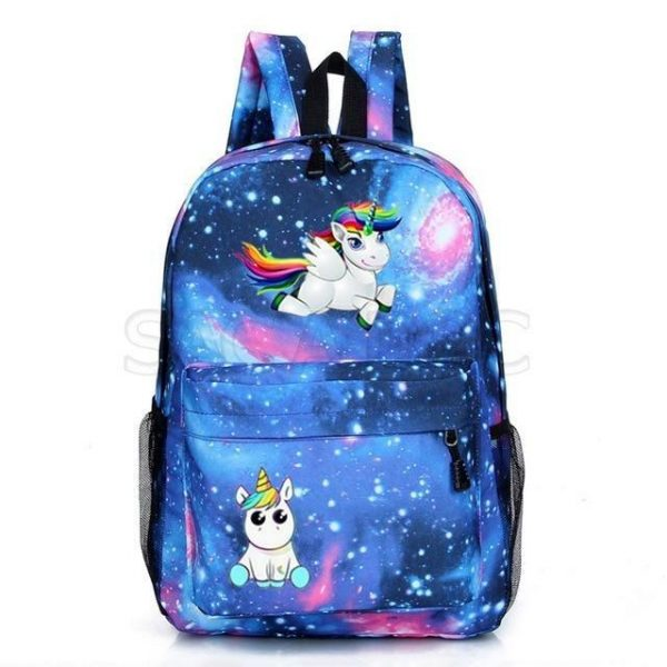 backpack unicorn blue galaxy buy