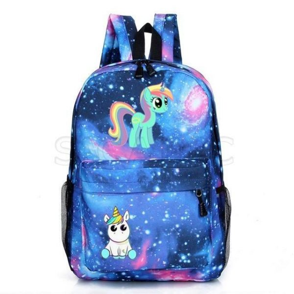 backpack unicorn blue kawaii bag and backpack unicorn