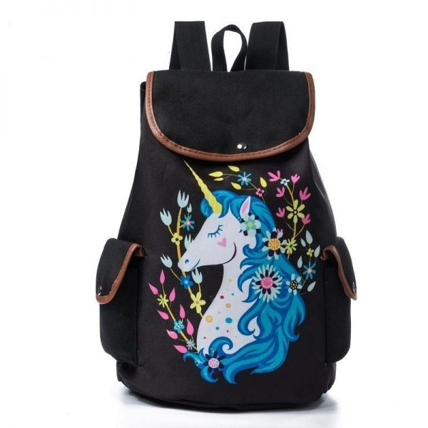 backpack unicorn flowers mauve unicorn backpack store