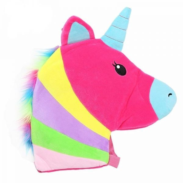backpack unicorn fluff striped mauve buy