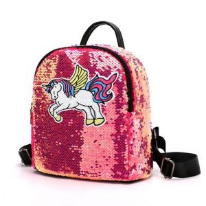backpack unicorn glitter red at sell