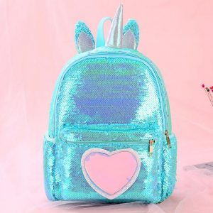 backpack unicorn pink and blue