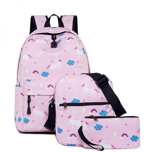 backpack unicorn pink with drawings buy