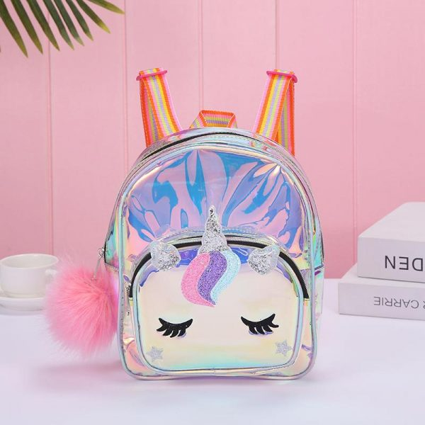 backpack unicorn pompom pink price
