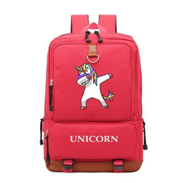 backpack unicorn red dab not dear