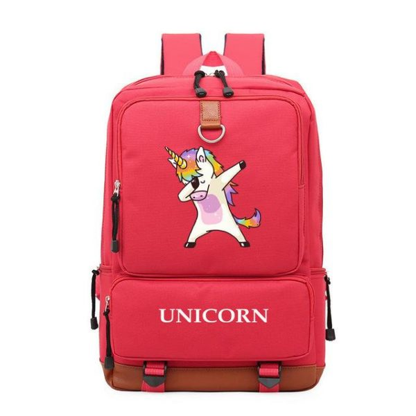 backpack unicorn red lively dab