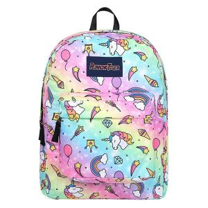 backpack unicorn scratches multicolored price