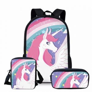 backpack unicorn simple bow in sky bag and backpack unicorn