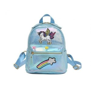 backpack unicorn star shooting blue bag and backpack unicorn