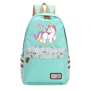 backpack unicorn turquoise