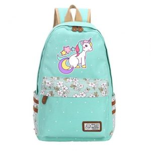 backpack unicorn turquoise stars not dear
