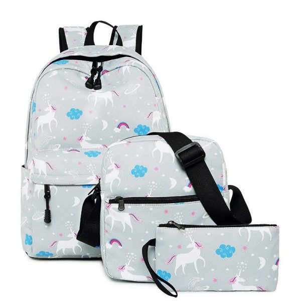 backpack unicorn white with drawings unicorn backpack store