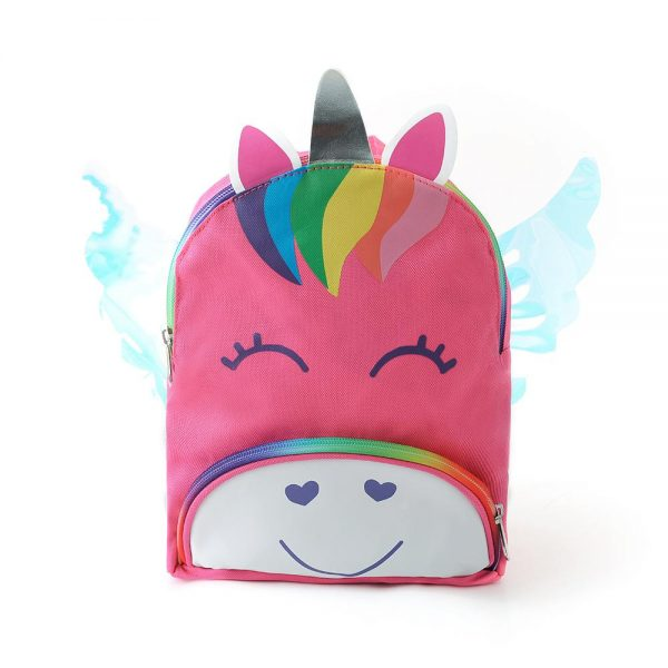 backpack unicorns hair multicolored pink at sell