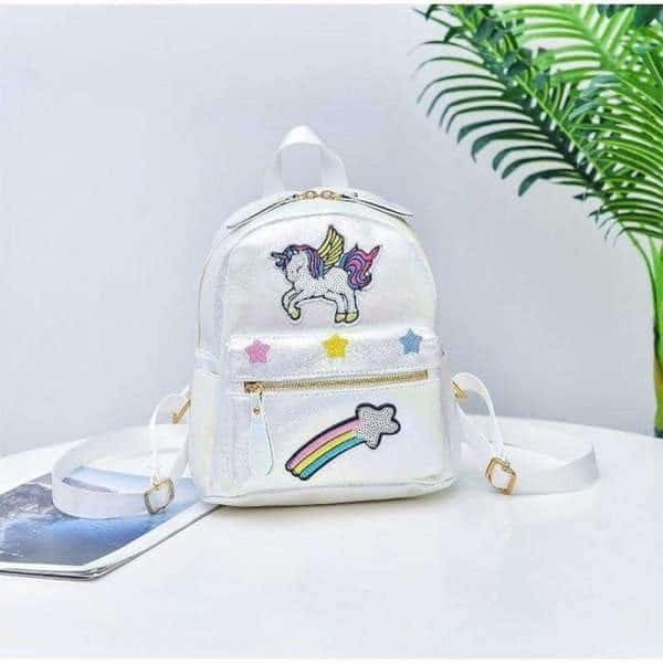 bag at back unicorn girl pink candy not dear