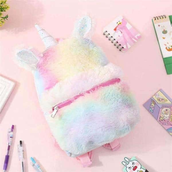 bag at back unicorn in fur with horn unicorn backpack store
