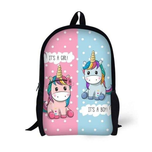 bag at back unicorn pink and blue bag and backpack unicorn