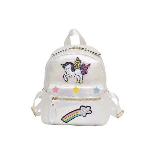 bag at back unicorn shiny white