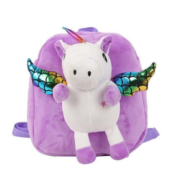 bag at back unicorn small girl pink