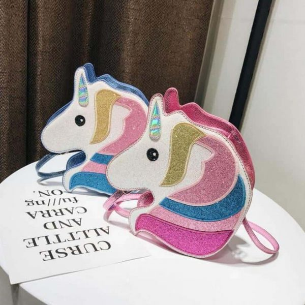 bag at hand unicorn with her form money