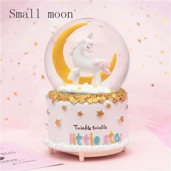 ball at snow unicorn musical tall bow in sky