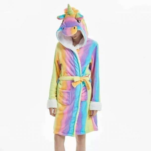 bathrobe unicorn adult bow in sky l 165 180 buy
