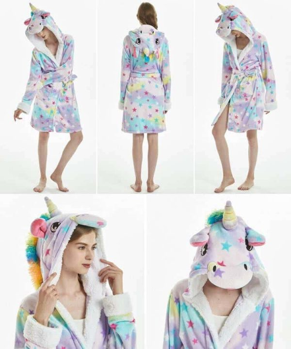 bathrobe unicorn adult star l 165 180 buy