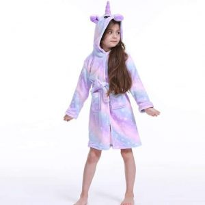bathrobe unicorn child blue multi 11