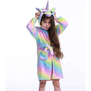 bathrobe unicorn child bow in sky star 11 went out of bath unicorn