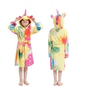bathrobe unicorn child multi colored 11