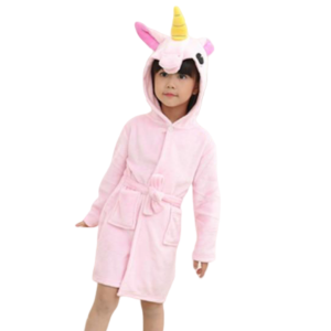 bathrobe unicorn child pink candy 11