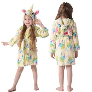bathrobe unicorn girl all soft 11 not dear