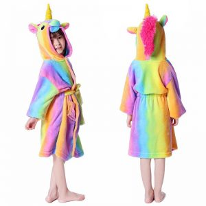 bathrobe unicorn girl bow in sky 11