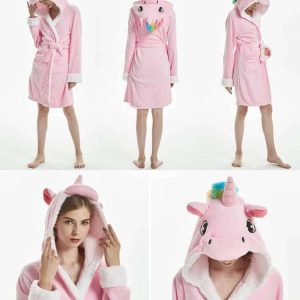 bathrobe unicorn pink adult l 165 180 to sell