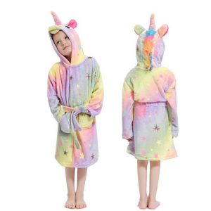 bathrobe unicorn small girl 11