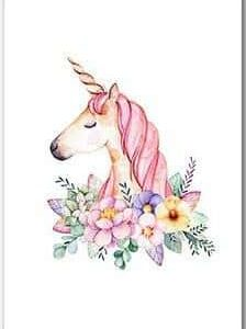 board unicorn flower for bedroom 30x45cm at sell