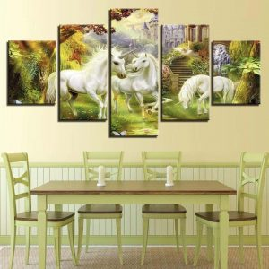 board unicorn modern 30x40 30x60 30x80cm with frame unicorn backpack store