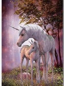 board unicorn mother and son for bedroom 30x45cm
