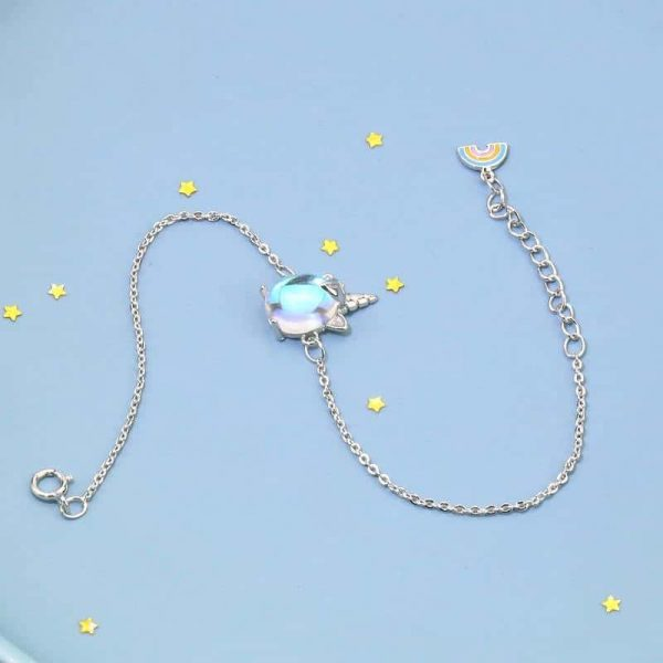 bracelet unicorn in money 925