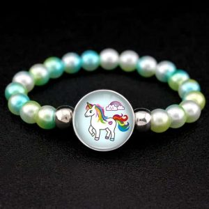 bracelet unicorn of pearl money and green price