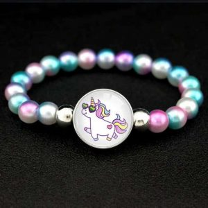bracelet unicorn of pearl money and white at sell