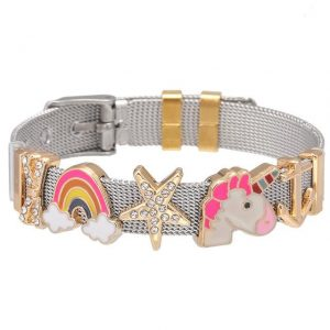 bracelet unicorn with charm gold at sell