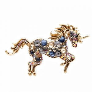 brooch unicorn black at sell