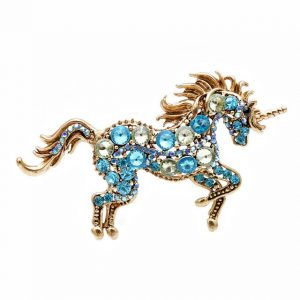 brooch unicorn blue price
