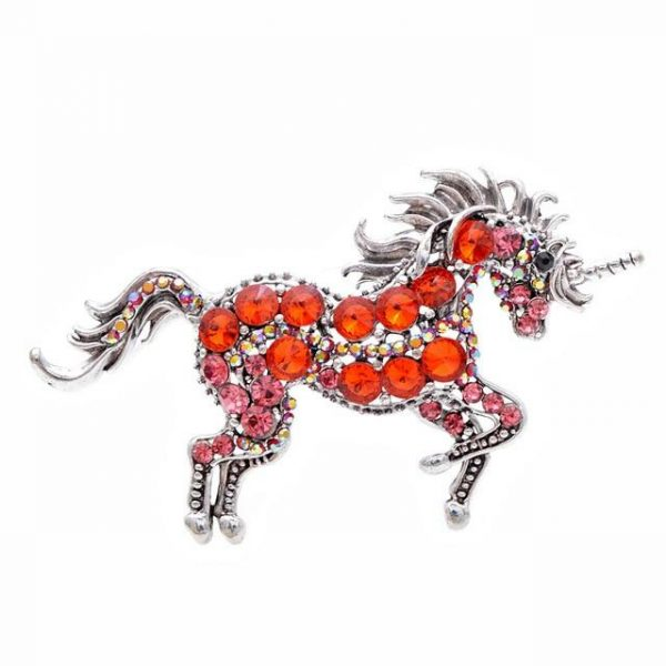brooch unicorn red buy