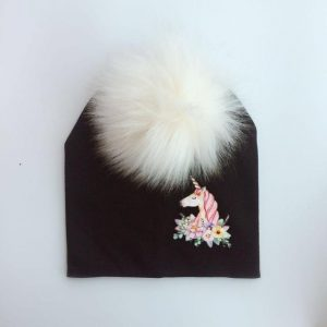 cap unicorn with pompom black price