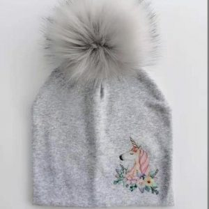 cap unicorn with pompom boy grey blade buy