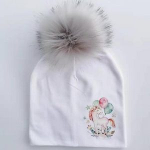 cap unicorn with pompom girl grey unicorn backpack store